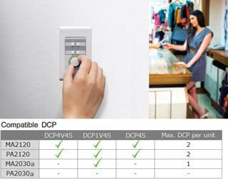 Remote Control from Optional DCP Series Digital Control Panel