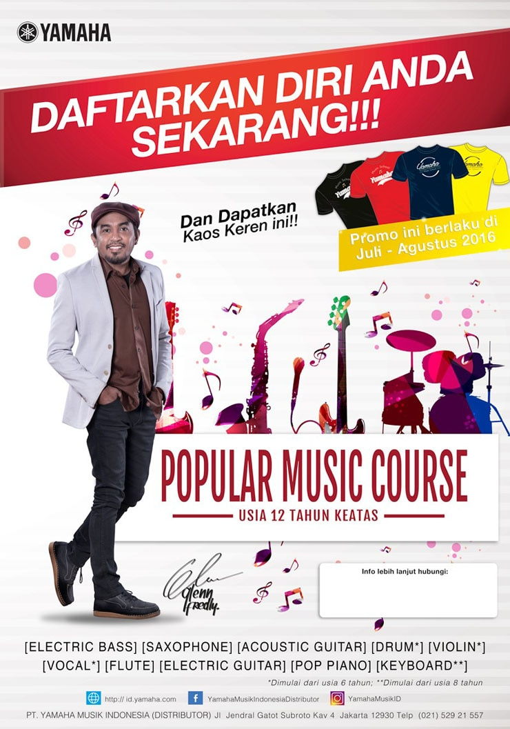 Bergabunglah Di Popular Music Course Dan Dapatkan Hadiah